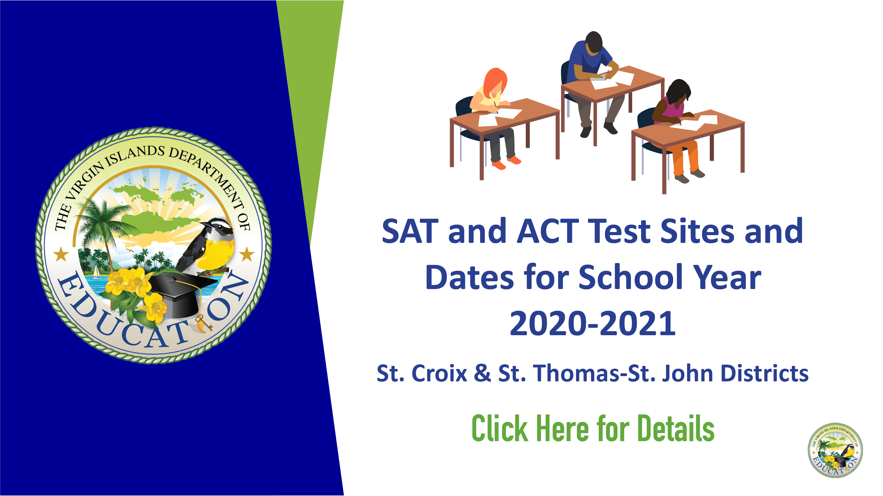 SAT and ACT Test Sites and Dates for School Year 2020-2021