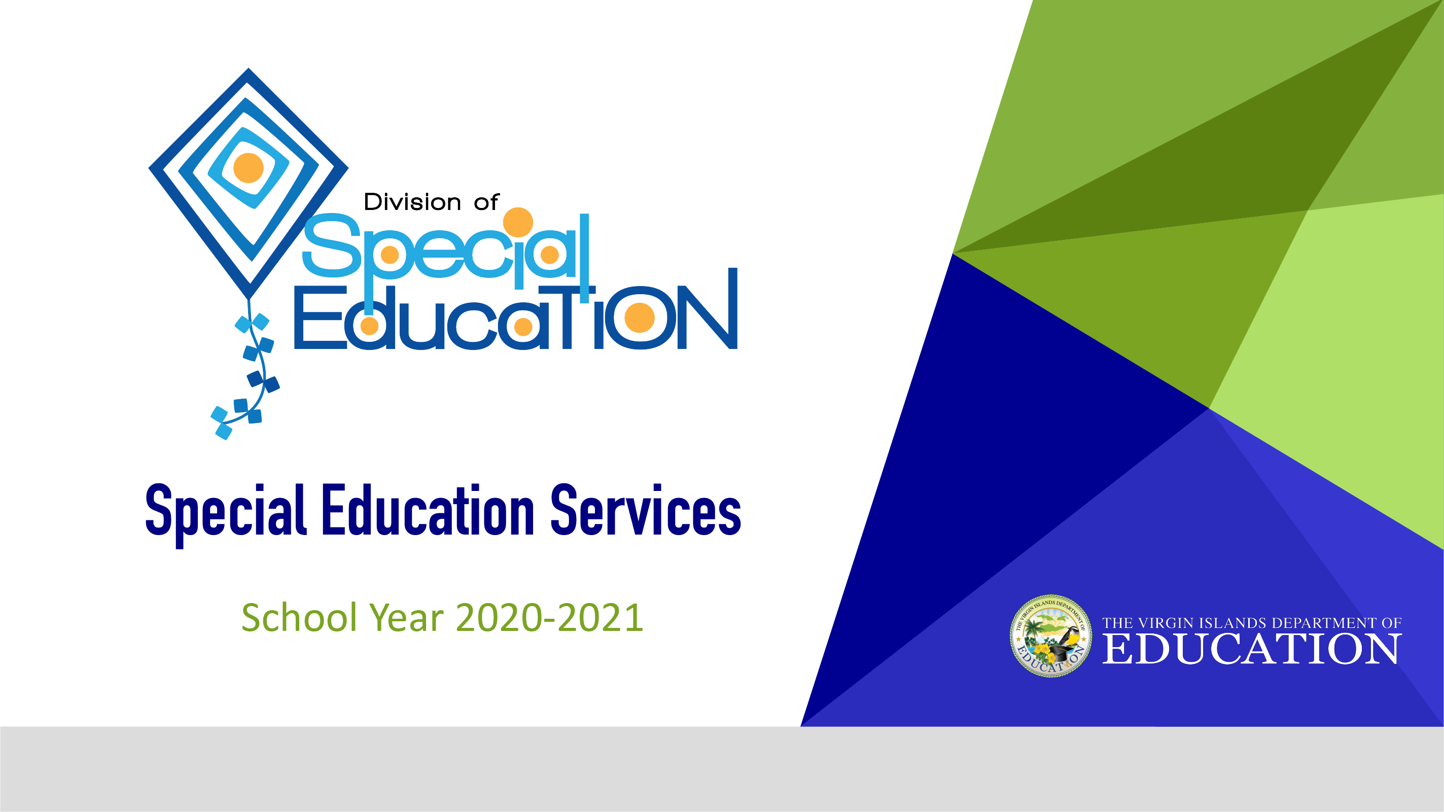 Special Education Services School Year 2020-2021