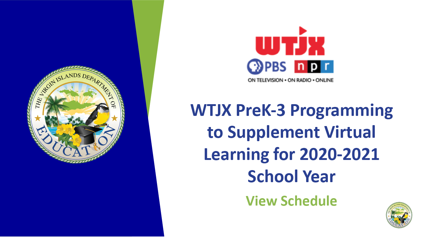 WTJX PreK-3 Programming to Supplement Virtual Learning for 2020-2021 School Year